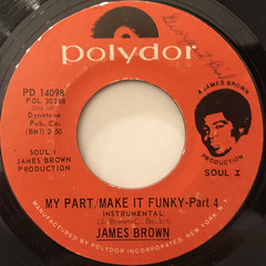 JAMES BROWN:MY PART,MAKE IT FUNKY(LABEL SIDE-B)