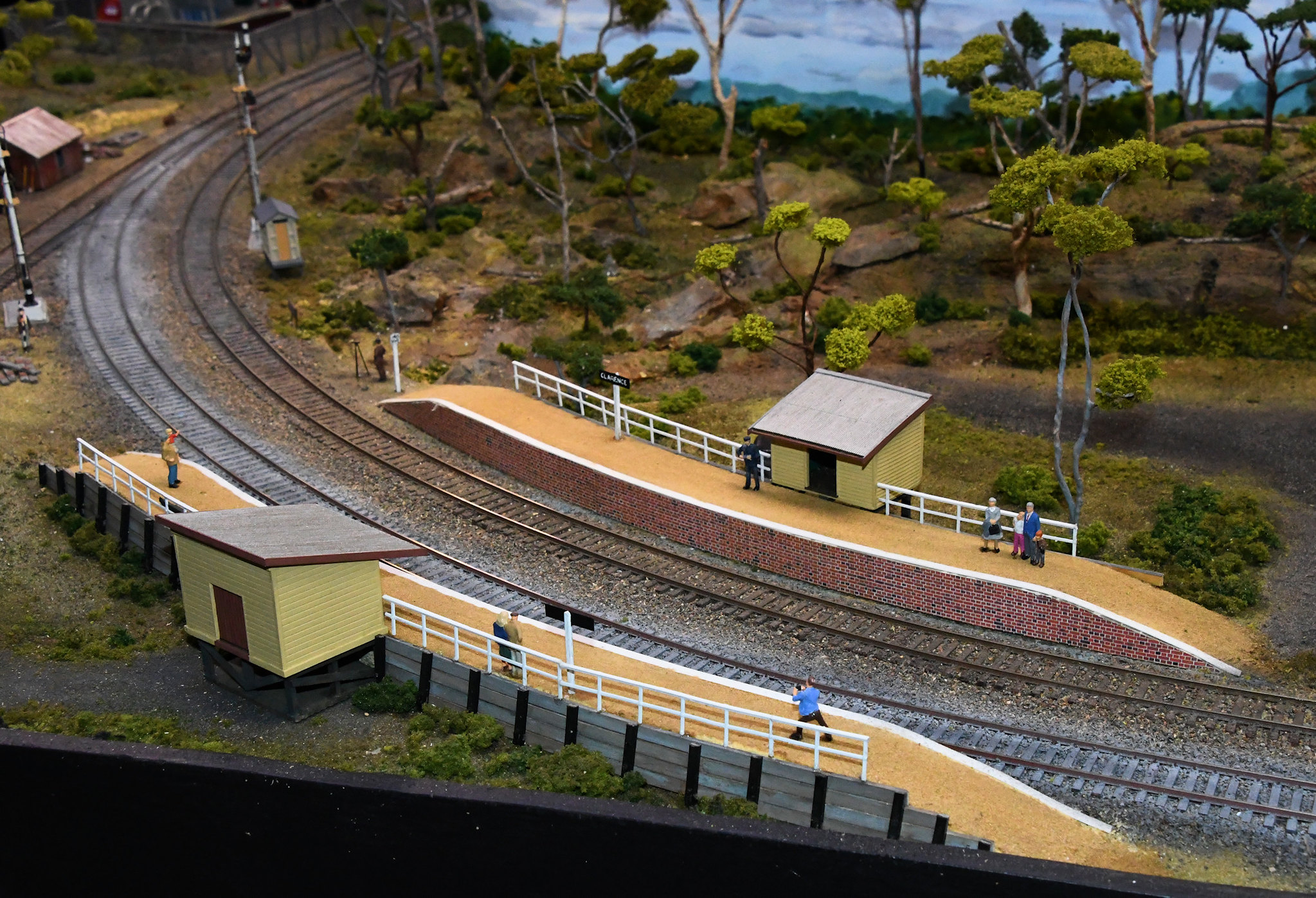 Clarence, Blue Mountains Layout, Epping Model Railway Exhibition, Rosehill, Sydney, NSW.