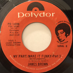 JAMES BROWN:MY PART,MAKE IT FUNKY(LABEL SIDE-A)