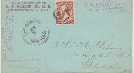 C.E. Fraser 1898 envelope