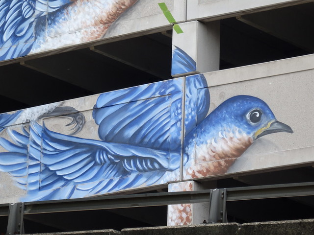 Eastern Blue Birds mural (detail)