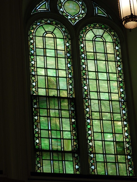 Stained glass windows, First Church in Albany