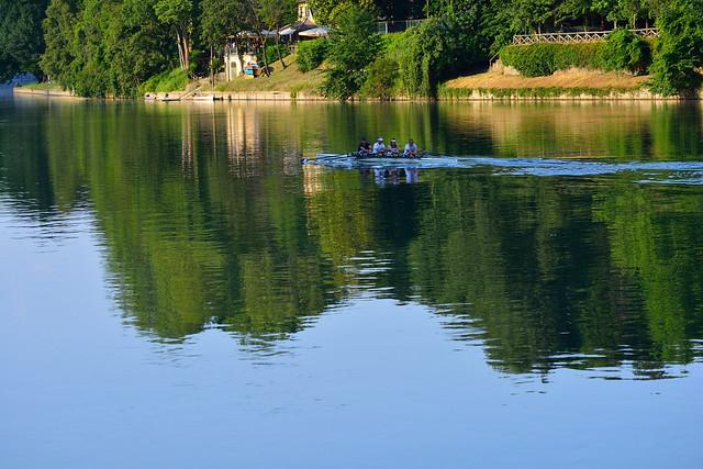 DSC_1987_5351.- A late spring afternoon on the Po river.  Un pomeriggio sul Po.