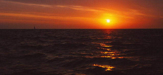sailing from Norway to Danmark