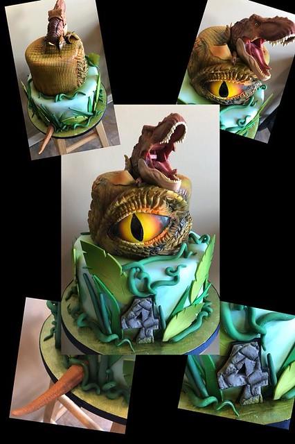 Dinosaur Cake by Sprinkled with Sugar - Kansas City's Premier Custom Cakes!