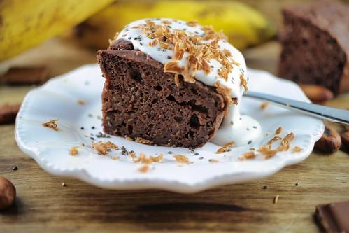 Schoko-Bananenkuchen Rezept, glutenfrei ohne weißen Zucker