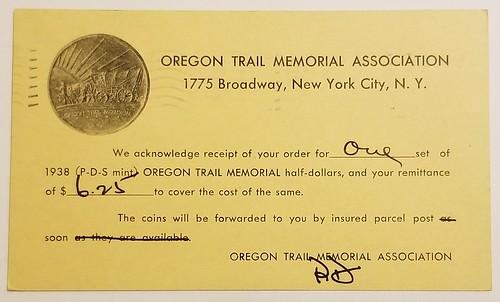 Oregon Trail half dollar holder