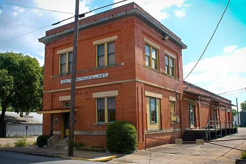 train station railroad depot brenham texas southernpacific