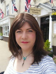 """""""Out and about"""" in Hungerford today."""