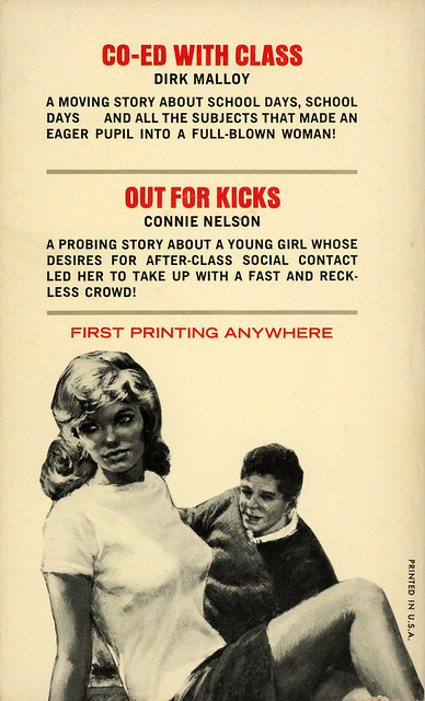Midwood Books 34-709 - Dirk Malloy - Co-Ed with Class / Connie Nelson - Out for Kicks (back)