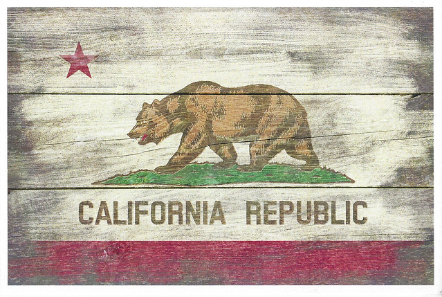 California Rustic Flag - Lantern Press
