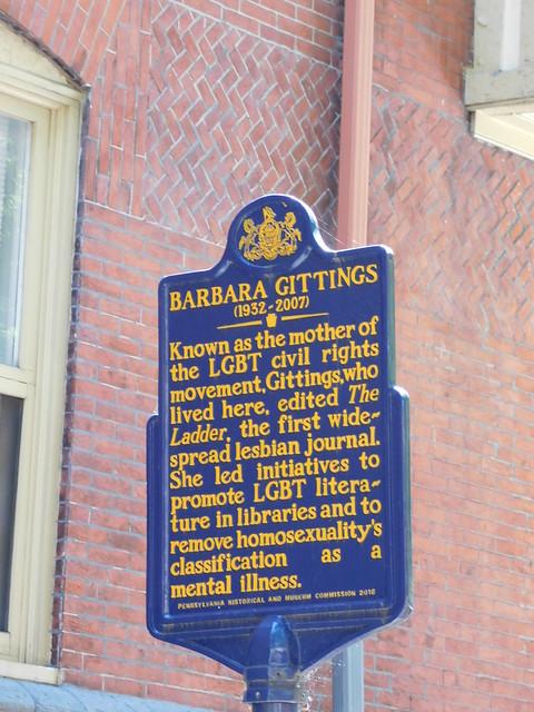 Barbara Gittings Historic Marker
