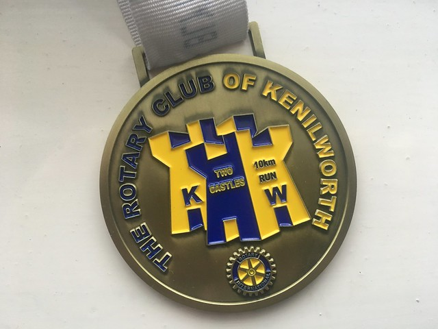 Two Castles finishers medal