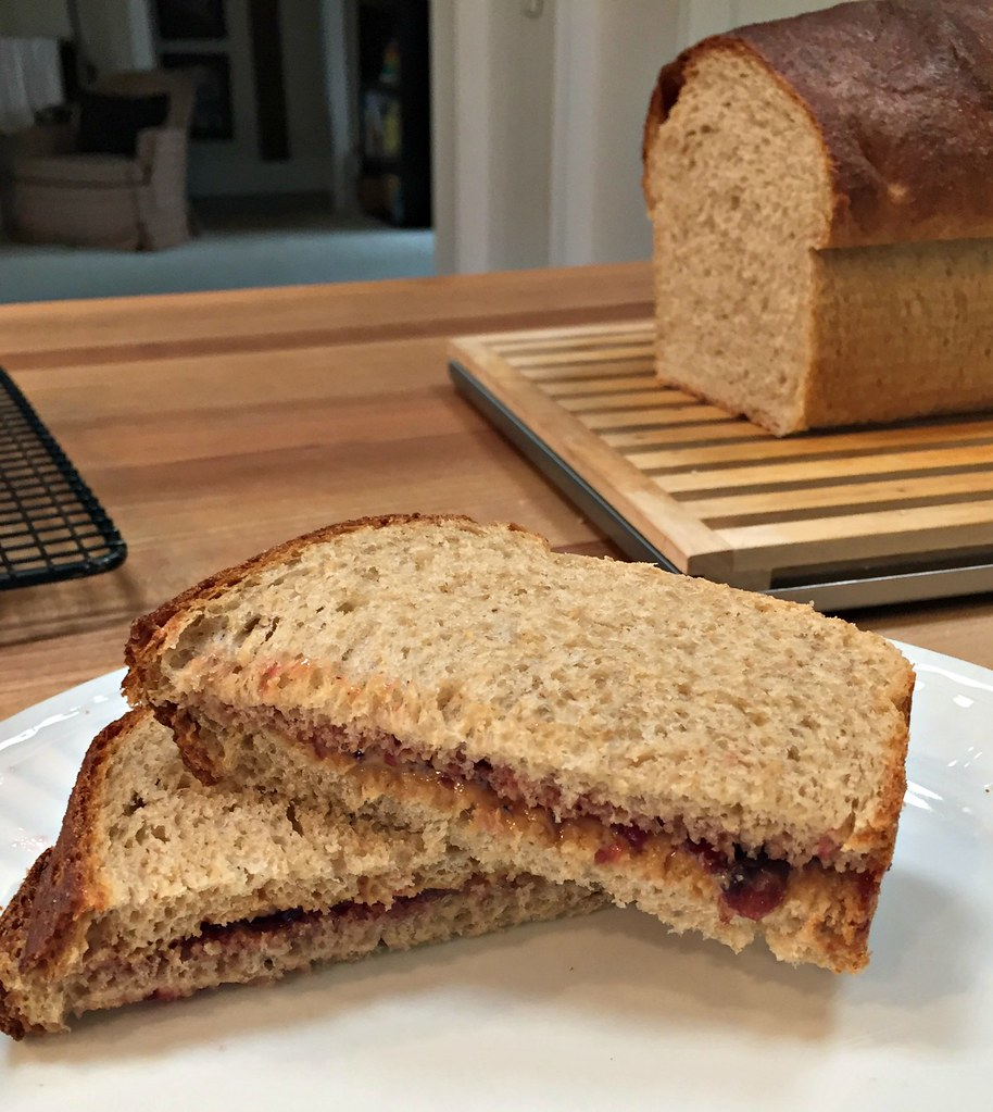 pb&j sandwich which whole grain bread