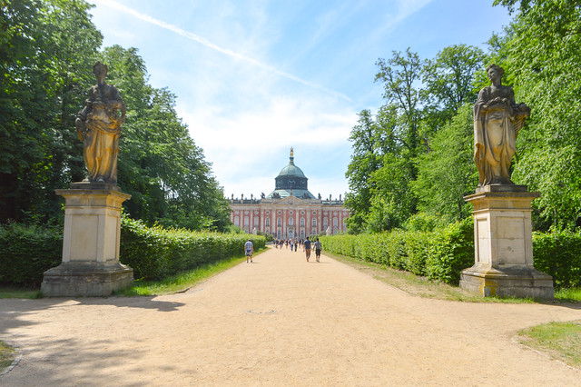 Inside the Potsdam palace grounds