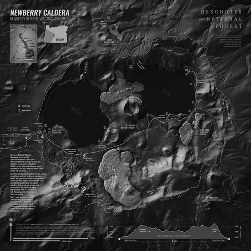 Newberry Caldera Map (Obsidian) | by dcdancoe