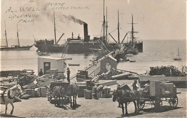 Old Jetty at Port Lincoln, S.A. - circa 1910
