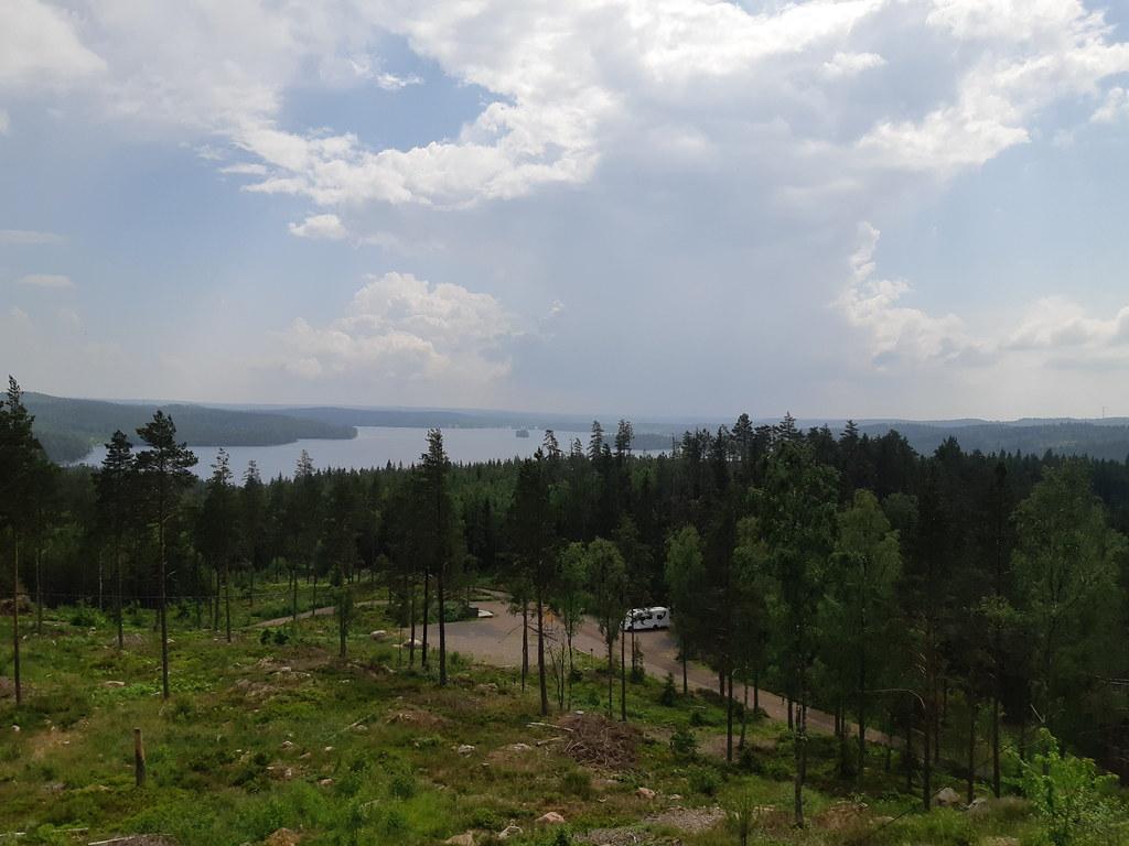Utsikt från Little Lake Rock - Zipline i Sverige