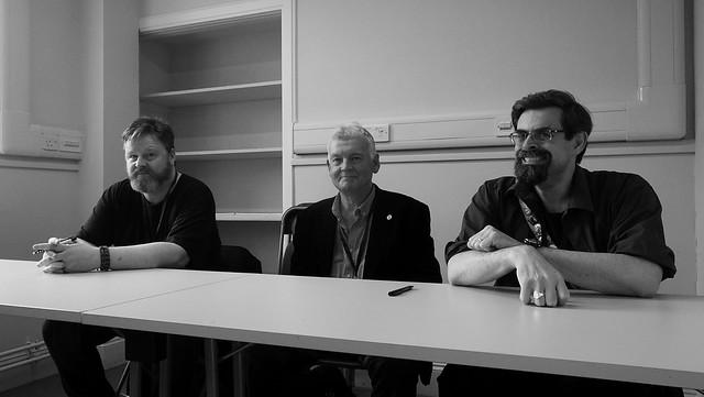Cymera 2019 - Gareth Powell, Ken MacLeod, Adrian Tchaikovsky02