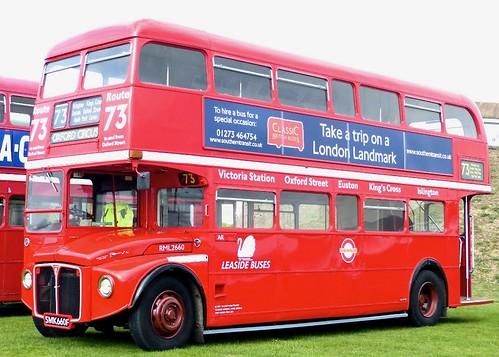 SMK 660F 'Leaside Buses' No. RML 2660. AEC Routemaster / Park Royal on 'Dennis Basford's railsroadsrunways.blogspot.co.uk'