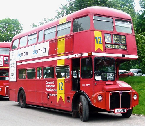 CUV 276C 'Go-Ahead London' No. RML 2276. AEC Routemaster / Park Royal on 'Dennis Basford's railsroadsrunways.blogspot.co.uk'