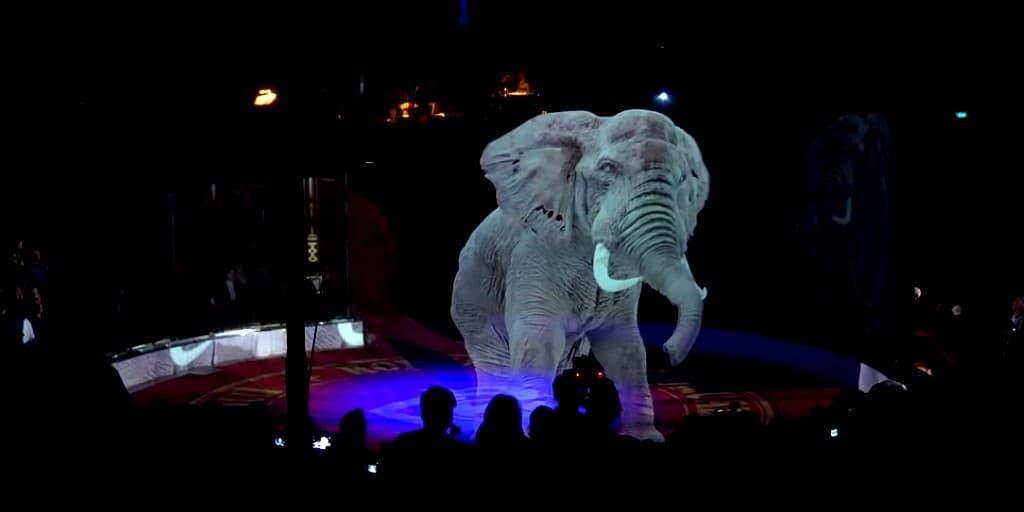 un-cirque-éléphants-hologrammes
