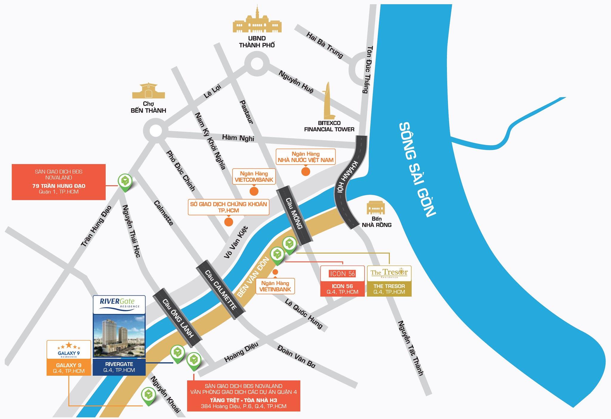 Vị trí Rivergate đắc địa – kết nối thuận tiện