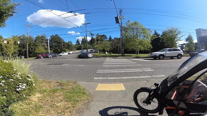 A crosswalk over a street.