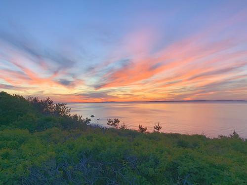 """martha's vineyard"" sunset landscape beach sound water sky clouds colors aquinnah"