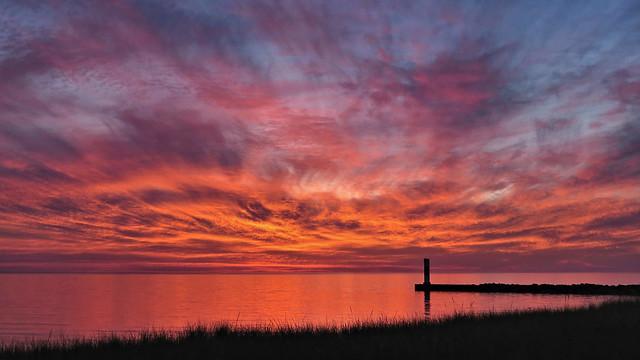 Arcadia Michigan after sunset