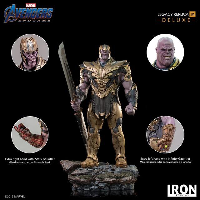 """I am inevitable!"" Iron Studios Legacy Replica 系列《復仇者聯盟:終局之戰》薩諾斯 Thanos 1/4 比例全身雕像作品 普通版/豪華版"