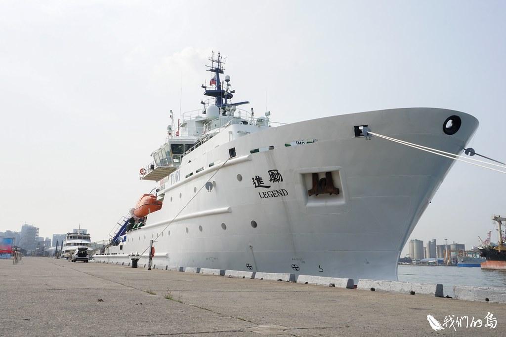 台灣海洋科技研究中心的海洋研究船-勵進。