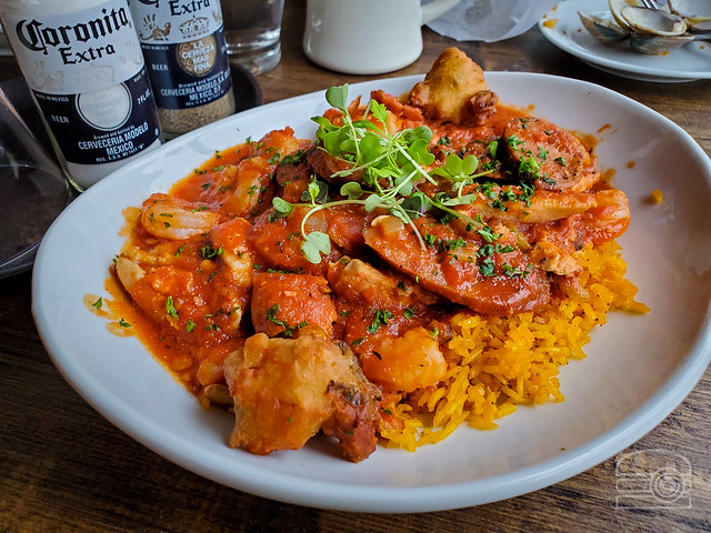 Jambalaya w/ Chicken, Shrimp, Andouille Sausage - Crab Shack Caribba