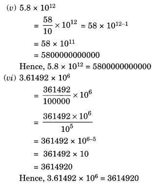 NCERT Solutions for Class 8 Maths Exponents and Powers Ex 12.2 Q2.1