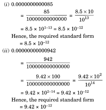NCERT Solutions for Class 8 Maths Exponents and Powers Ex 12.2 Q1