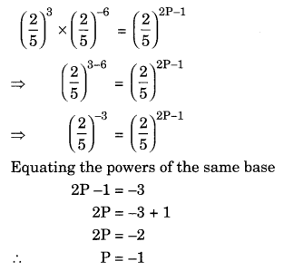Exponents and Powers Class 8 Extra Questions Maths Chapter 12 Q11.1