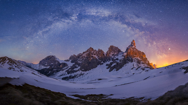Alps Under The Night Sky