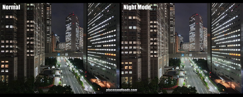 s10 plus night mode comparison tokyo