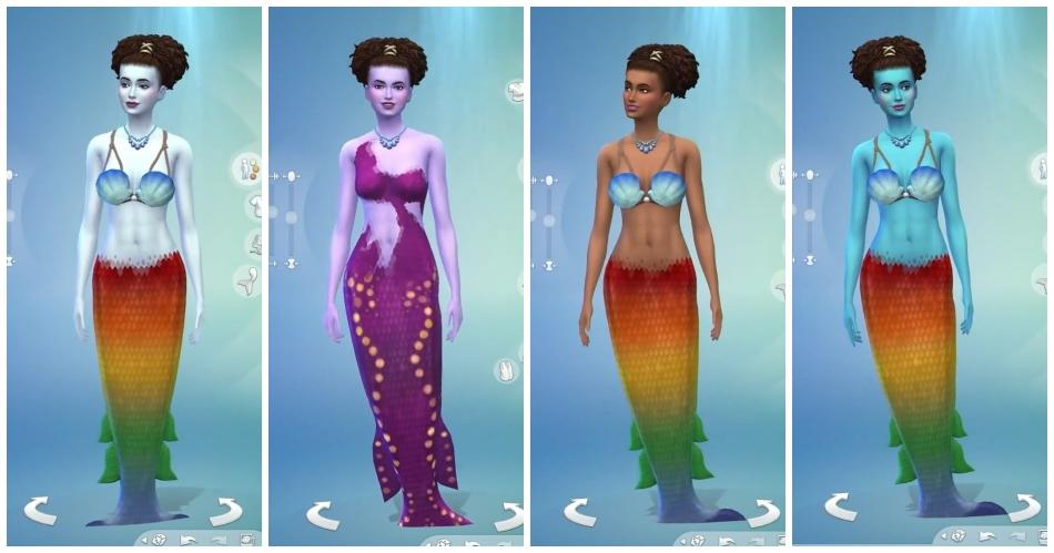 Sims 4 Criar um Sim Sereias