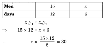 Direct and Inverse Proportions Class 8 Extra Questions Maths Chapter 13 Q6