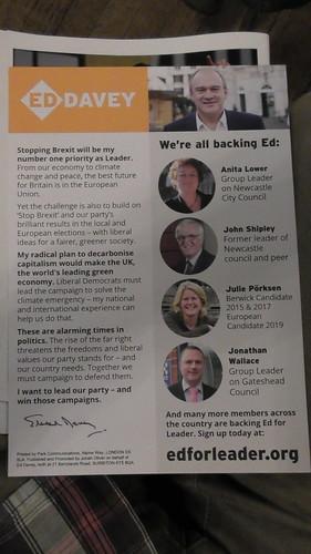 Ed Davey leaflet June 19