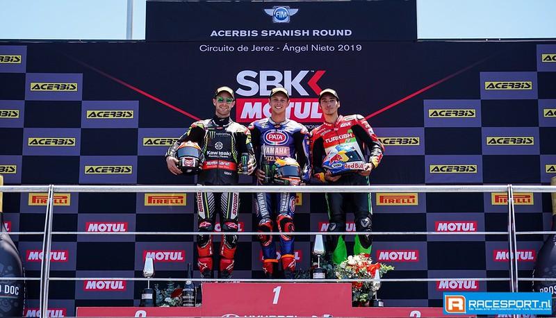 Podium WSBK race 2