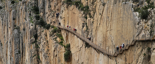 Walking on the edge on the historical Caminito del Rey trail