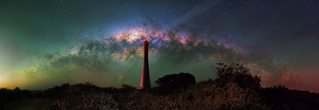 Milky Way setting over Guilderton Lighthouse, Western Australia