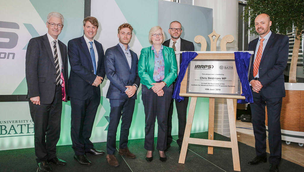 Unveiling the commemorative plaque at IAAPS - Monday 10 June 2019