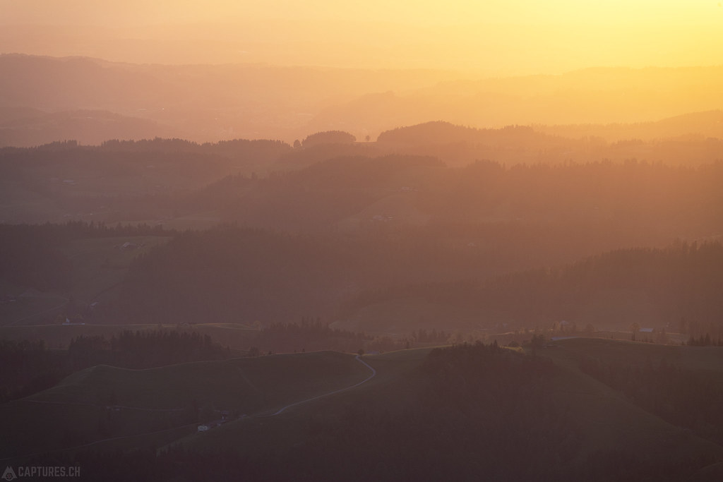 Evening light over the Emmental - Beichle