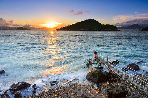 honkkong sunset beach saiwanswimmingshed 香港 夕陽 西環鐘聲泳棚 greenisland