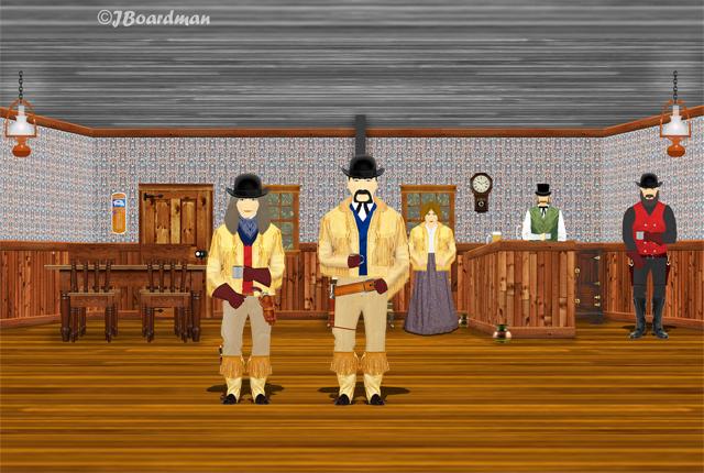 Sarah McCoy & Jim Driscoll Inside the Moosehead Saloon ©Jack Boardman