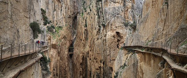 The Caminito del Rey trail is spectacular