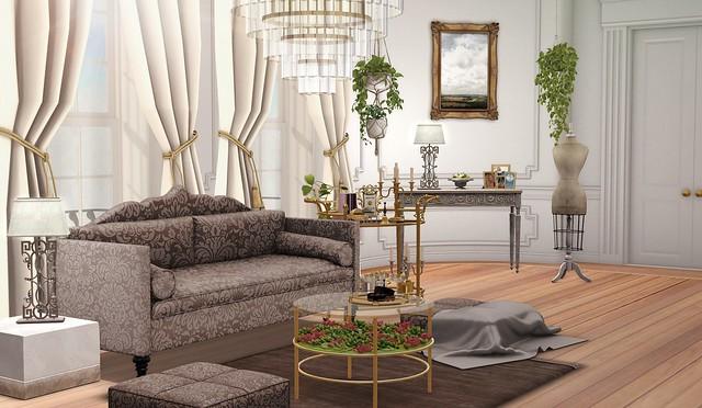 A stylish lounge
